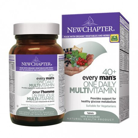 NEW CHAPTER ORGANIC EVERY MAN'S ONE DAILY 40+ MULTIVITAMIN 48 TB