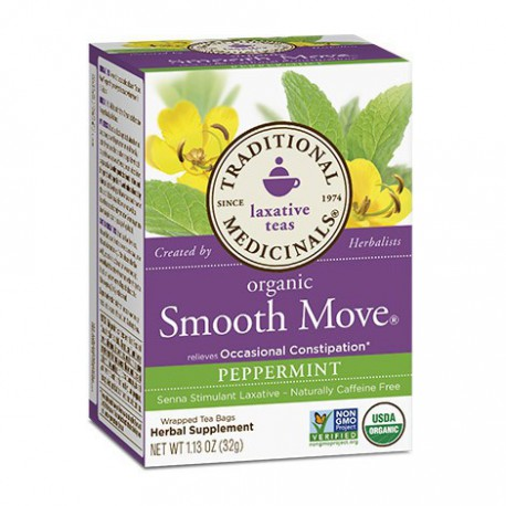 TRADITIONAL MEDICINALS TEA ORGANIC SMOOTH MOVE PEPPERMINT 20 BG