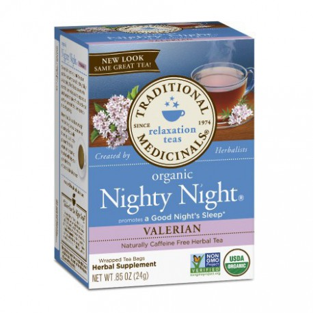 TRADITIONAL MEDICINALS TEA ORGANIC NIGHTY NIGHT VALERIAN 20 BG
