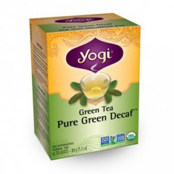 YOGI ORGANIC PURE GREEN DECAF TEA 16 BG