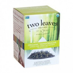 TWO LEAVES AND A BUD ORGANIC GREEN TEA TAMAYOKUCHA 15 BG