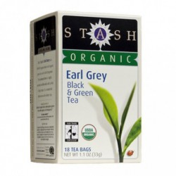 STASH ORGANIC EARL GREY GREEN & BLACK TEA 18 BG