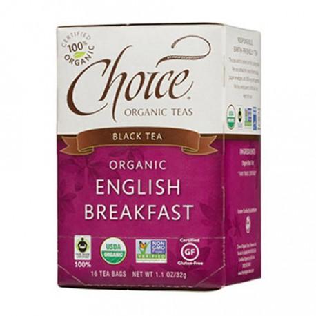 CHOICE ORGANIC TEAS ENGLISH BREAKFAST 16 BG