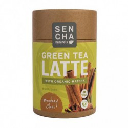 SENCHA NATURALS GREEN TEA LATTE WITH ORGANIC MATCHA BOMBAY CHAI 240 G
