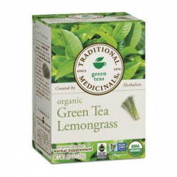 TRADITIONAL MEDICINALS TEA ORGANIC GREEN TEA WITH LEMONGRASS 20 BG
