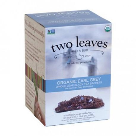 TWO LEAVES & A BUD ORGANIC TEA EARL GREY 15 BG