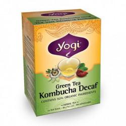 YOGI ORGANIC GREEN TEA KOMBUCHA DECAF 16 BG