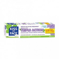 KISS MY FACE TRIPLE ACTION FLUORIDE FREE TOOTHPASTE FRESH MINT 133 ML