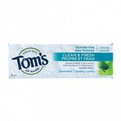 TOM'S OF MAINE CLEAN & FRESH FLUORIDE FREE TOOTHPASTE SPEARMINT 85 ML