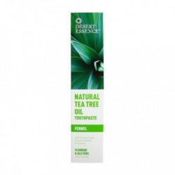 DESERT ESSENCE NATURAL TEA TREE OIL TOOTHPASTE FENNEL 130 ML