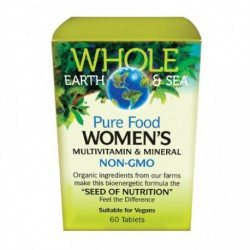 NATURAL FACTORS WHOLE EARTH & SEA WOMEN'S MULTIVITAMIN AND MINERAL 60 TB