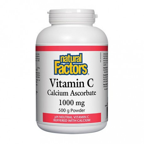 NATURAL FACTORS VITAMIN C CALCIUM ASCORBATE POWDER 1000MG 500 G