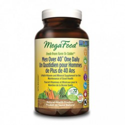 MEGAFOOD MEN OVER 40 ONE DAILY MULTIVITAMIN 72 TB