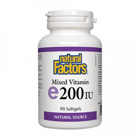 NATURAL FACTORS MIXED VITAMIN E 200IU 90 SG