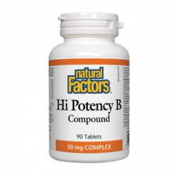 NATURAL FACTORS HI POTENCY VITAMIN B COMPOUND 50MG 90 TB