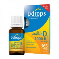 D-DROPS ADULT LIQUID VITAMIN D3 1000IU 10 ML