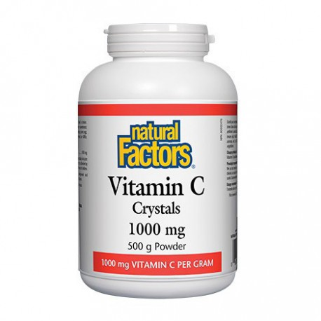 NATURAL FACTORS VITAMIN C CRYSTALS 500 G