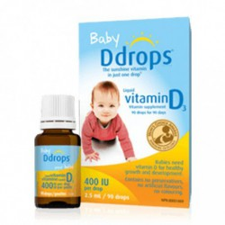 D-DROPS BABY LIQUID VITAMIN D3 400IU 2.5 ML