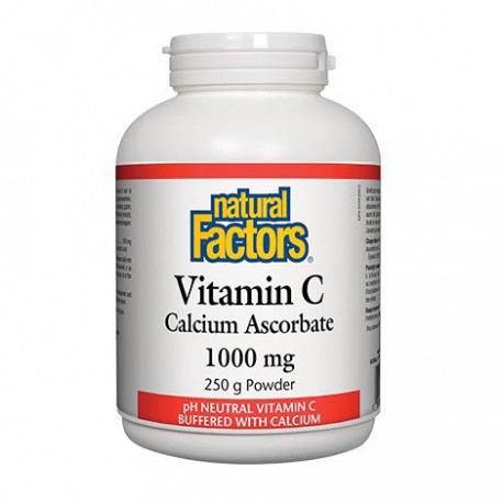 NATURAL FACTORS VITAMIN C CALCIUM ASCORBATE POWDER 1000MG 250 G
