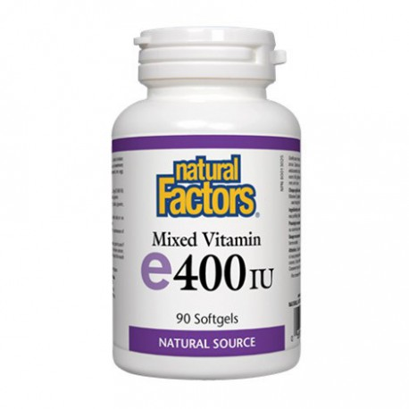 NATURAL FACTORS MIXED VITAMIN E 400IU 90 SG