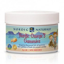 NORDIC NATURALS OMEGA-3 GUMMIES TANGERINE 60 CH