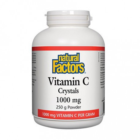 NATURAL FACTORS VITAMIN C CRYSTALS 250 G