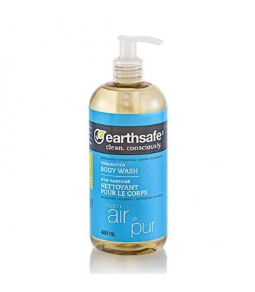 EARTHSAFE BODY WASH CLEAN AIR UNSCENTED 480 ML
