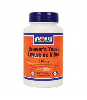 NOW BREWER'S YEAST 650MG 200 TB