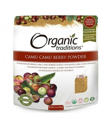 ORGANIC TRADITIONS CAMU CAMU BERRY POWDER 100 G