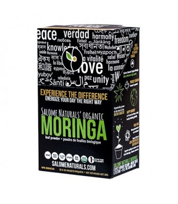 SALOME NATURALS ORGANIC MORINGA POWDER STICK PACKS UNFLAVOURED 20 PK