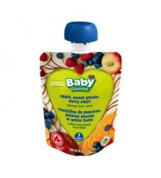 BABY GOURMET ORGANIC APPLE SWEET POTATO BERRY SWIRL 128 ML