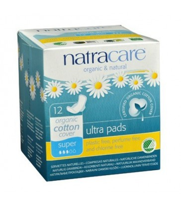 NATRACARE ORGANIC ULTRA SUPER PADS WITH WINGS 12 PK