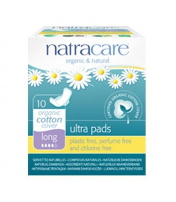 NATRACARE ORGANIC LONG ULTRA WITH WINGS PADS 10 PK