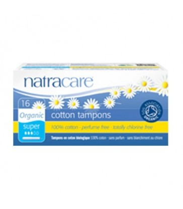 NATRACARE ORGANIC SUPER TAMPONS WITH APPLICATOR 16 PK