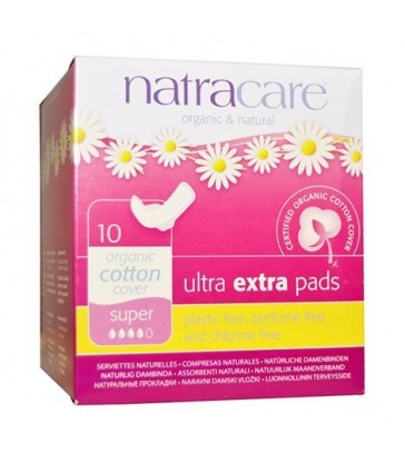 NATRACARE ORGANIC ULTRA EXTRA SUPER PADS 10 PK