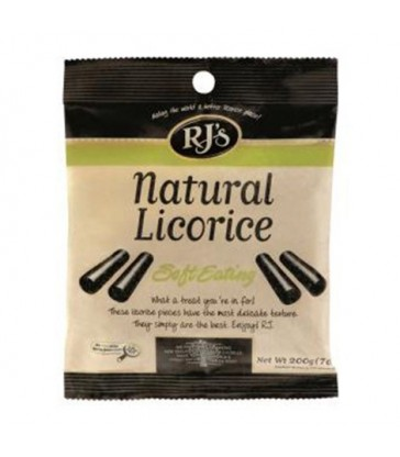 RJ'S SOFT LICORICE BLACK 200 G