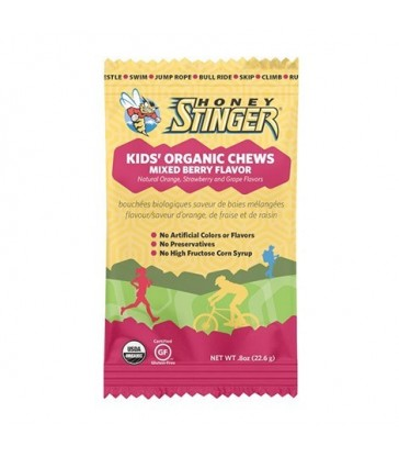 HONEY STINGER KIDS' ORGANIC CHEWS MIXED BERRY 5 PK