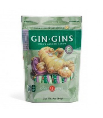 THE GINGER PEOPLE GIN GINS ORIGINAL CHEWY GINGER CANDY 84 G