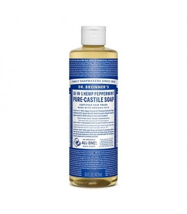DR. BRONNER'S ORGANIC CASTILE LIQUID SOAP PEPPERMINT 472 ML