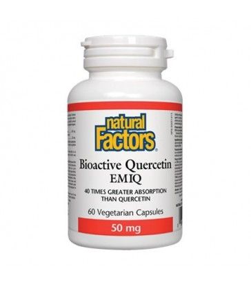 NATURAL FACTORS BIOACTIVE QUERCETIN EMIQ 50MG 60 VC