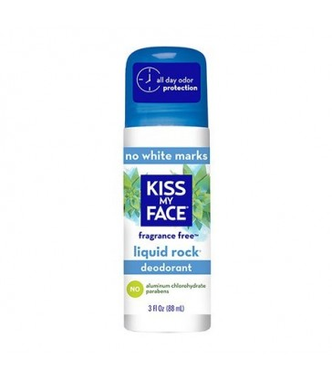 KISS MY FACE LIQUID ROCK ROLL-ON DEODORANT FRAGRANCE FREE 88 ML