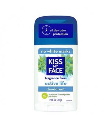 KISS MY FACE ACTIVE LIFE DEODORANT STICK FRAGRANCE FREE 70 G