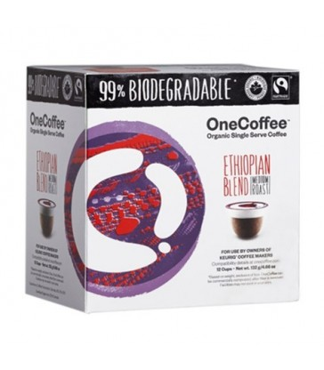 ONECOFFEE SINGLE SERVE COFFEE ORGANIC ETHIOPIAN BLEND 12 PK