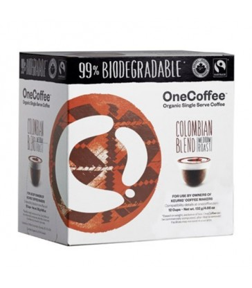 ONECOFFEE SINGLE SERVE COFFEE ORGANIC COLUMBIAN BLEND 12 PK