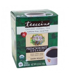 TEECCINO HERBAL COFFEE TEA BAGS ORGANIC FRENCH ROAST 10 BG