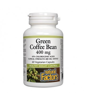 NATURAL FACTORS GREEN COFFEE BEAN EXTRACT 60 VC