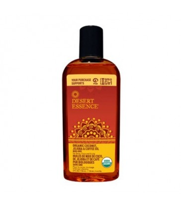 DESERT ESSENCE ORGANIC COCONUT JOJOBA & COFFEE OIL 118 ML