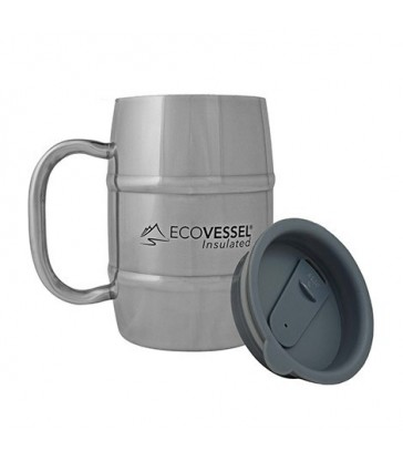 ECO VESSEL DOUBLE BARREL INSULATED BEER/COFFEE MUG 500 ML