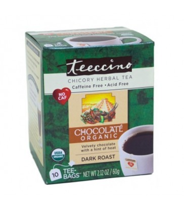 TEECCINO HERBAL COFFEE TEA BAGS ORGANIC CHOCOLATE 10 BG