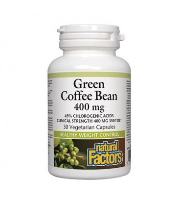 NATURAL FACTORS GREEN COFFEE BEAN EXTRACT 30 VC